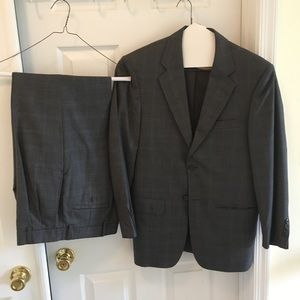 Pronto Uomo Gray Suit Jacket & Pants 36 Short